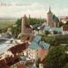 Blick vom Bürgergarten auf die Wasserkunst, Ende des 19. Jahrhunderts