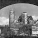 Blick auf Wasserkunst und Michaeliskirche 1950